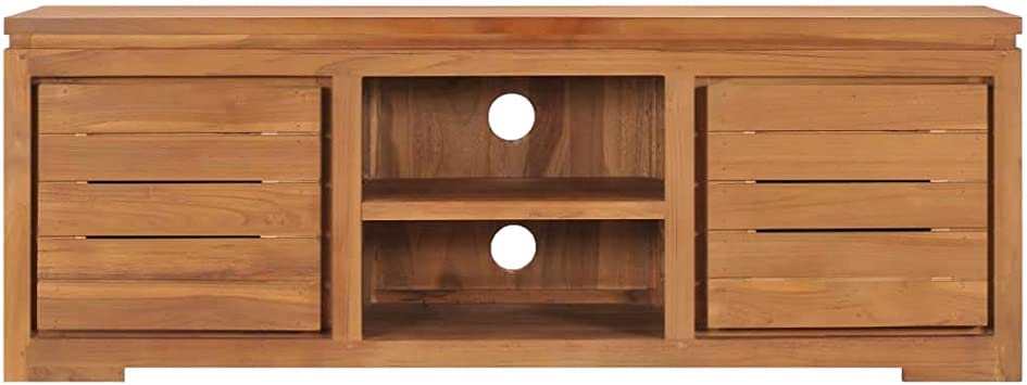 UnfadeMemory Mobile Porta TV 110x30x40 cm in Legno Massello di Teak