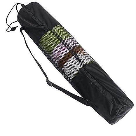 Amazon.com : Yoga Mat Bag Fitness Carrier Nylon Mesh Center ...