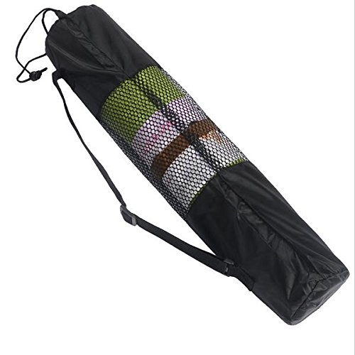 Yoga Mat Bag Fitness Carrier Nylon Mesh Center Strap by (Carrier Nylon Mesh)