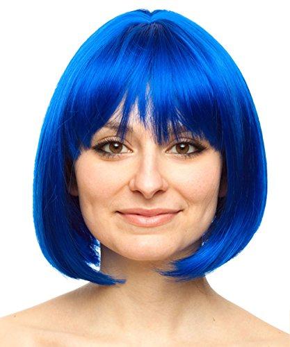 Blue Bob Wig Joy Wig Coraline Wig Ramona Flowers Wig Ramona Flowers Costume Wig