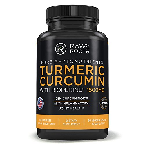 Turmeric Curcumin with BIOPERINE Black Pepper Extract – Anti Inflammatory, Joint Support, 95% Curcuminoids – Dietary Supplement – 60 Vegetarian Capsules (60) Review