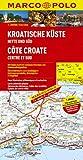 MARCO POLO Karte Kroatische Küste, Mitte und Süd 1:200.000 (MARCO POLO Karten 1:200.000)