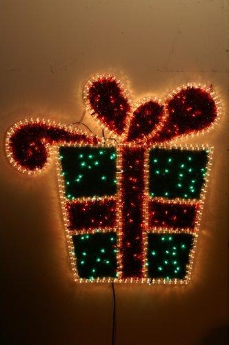 Led Lampen Weihnachtsdeko.Christmas Concepts 100cm Gift Box Seil Licht Mit 180 Led Lampen
