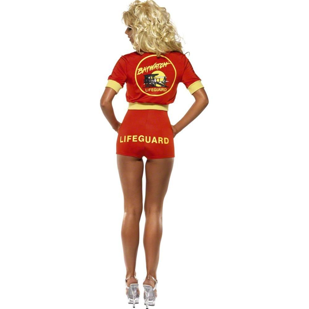 Smiffys Licenciado oficialmente Disfraz de vigilanta de la playa de Baywatch, Rojo, con traje entero, cazadora y: Smiffys: Amazon.es: Juguetes y juegos