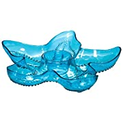 Cool Summer Party Chip & Dip Starfish Tray, 1 Piece, Made from Melamine, Blue, 14 1/2  by Amscan
