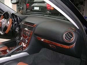 Mazda rx 8 rx8 rx 8 interior burl wood dash trim kit set 2004 2005 2006 2007 2008 for Mazda rx8 interior accessories