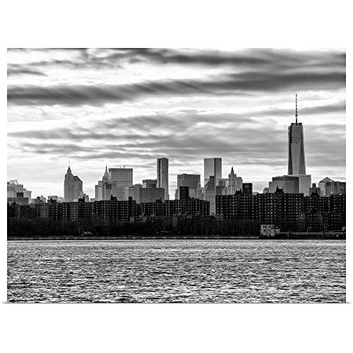 GREATBIGCANVAS Poster Print Entitled New York City - Cityscape with The One World Trade Center Building by Philippe Hugonnard 40