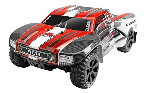 (Redcat Racing Blackout SC PRO 1/10 Scale Brushless Electric Short Course Truck with Waterproof Electronics Vehicle, Red)