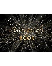 "Autograph Book: Memory Book, Signature Celebrity Memorabilia Album Gift, Blank Unlined Keepsake Scrapbook Favorite Baseball, Basketball, Football, Sports Stars, Cartoon Characters, 8.25"" x 6"" 110 Pages"