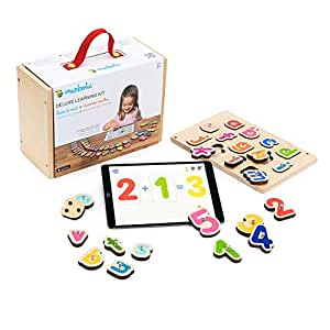 Marbotic - Deluxe Learning Kit for iPad - Ages 3-5 - Interactive Wooden Numbers and Letters Set - Hands-on Educational Learning Games for Preschoolers - Homeschooling Tool for Early Reading & Math