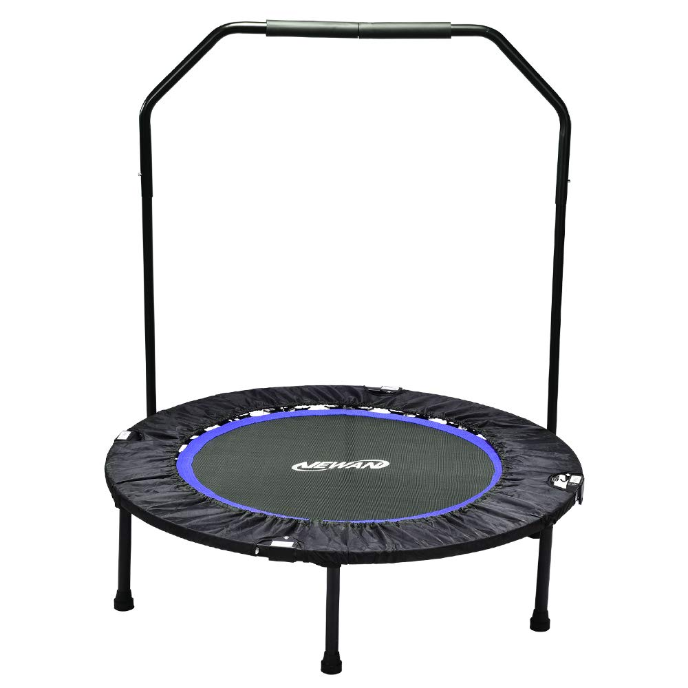 Newan Trampoline, 40'' Mini Fitness Rebounder Trampoline Indoor for Adults, Best Home Exercise - Workout Cardio Fitness Trainer(Max Limit 330 lbs )