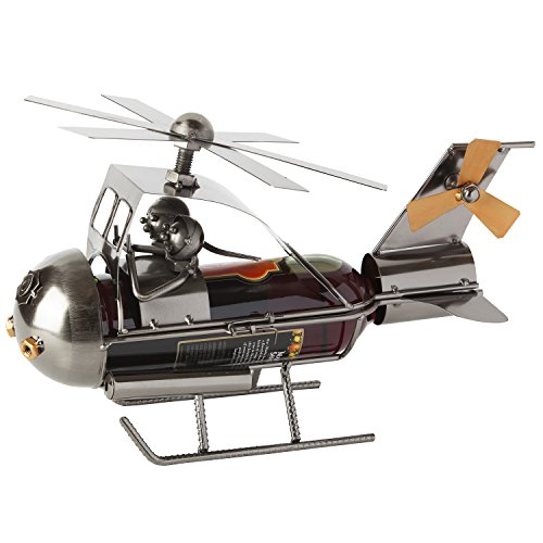 "Cheap BRUBAKER Wine Bottle Holder Statue ""Helicopter"" Sculptures and Figurines Decor & Vintage Wine Racks and Stands Gifts Decoration"