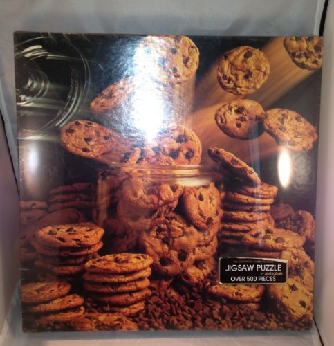 """Vintage Springbok Puzzle ~ 500 Piece ~ """"Chip-Chip Hooray"""" ~ Humorous Backside Ode to Chocolate Chip Cookies from Springbok"""