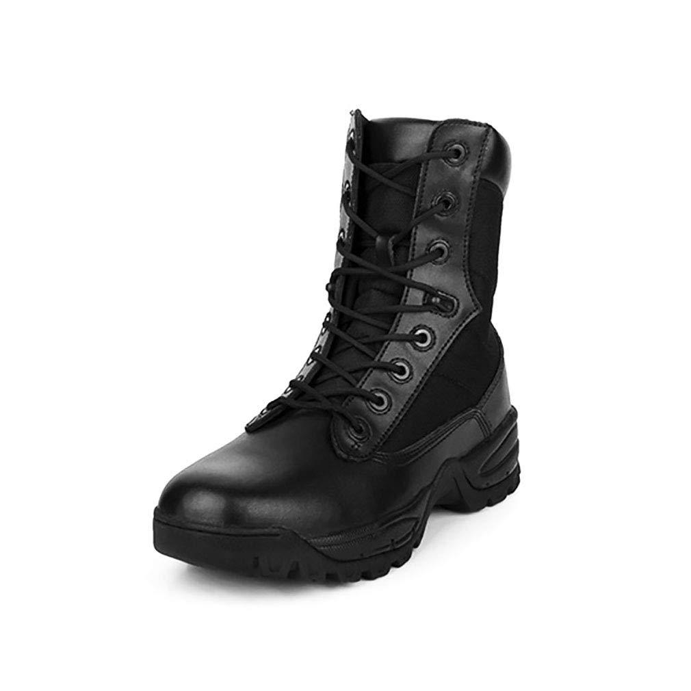YAN Zapatos Unisex 2018 Botas De Cuero De Alta Superior De Entrenamiento Al Aire Libre Botas De Encaje Casual/Diariamente Caminar Zapatos Senderismo Camping, Desafíos Extremos, Correr,Beige,44
