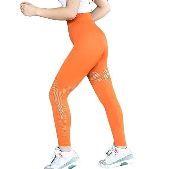 Loolik Pantalones Yoga Mujeres Mallas Deportivas Mujer Malla ...