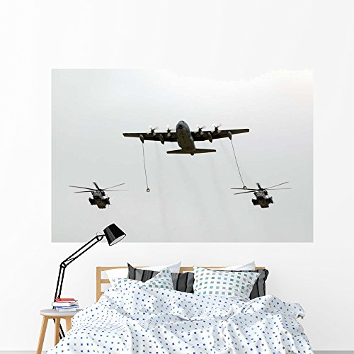 - Mc-130w Conducts In-flight Refueling Wall Mural by Wallmonkeys Peel and Stick Graphic (72 in W x 48 in H) WM181252