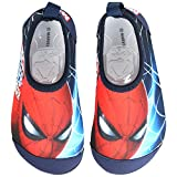 Joah Store Spider-Man Boys Kids Water Shoes Quick Drying Swim Beach Shoes Aqua Socks Anti Slip Runs Small (9.5 M US Toddler, Spider-Man)