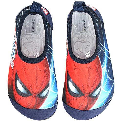 Joah Store Spider-Man Boys Kids Water Shoes Quick Drying Swim Beach Shoes Aqua Socks Anti Slip Runs Small (9.5 M US Toddler, Spider-Man) -