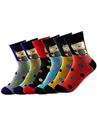 New Lucky Owl Dot Cotton Socks For Women 6 Colors H5262