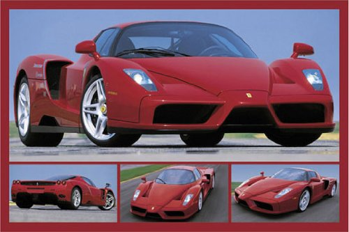 Ferrari Tribute to Enzo Red Sports Car 4 Pics H PAPER POSTER measures 36 x 24 inches (91.5 x - Uk Ferrari Price