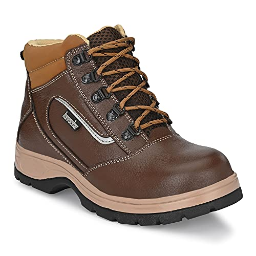 Kavacha Pure Leather Steel Toe Safety Shoe S120, Size :10