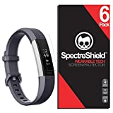 Spectre Shield (6 Pack) Screen Protector for Fitbit Alta HR (Also Fitbit Ace or Alta 2016) Accessory Fitbit Alta HR Case Friendly Full Coverage Clear Film