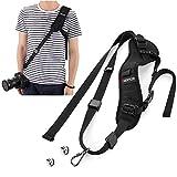 AMERTEER Camera Strap, Rapid Fire Shoulder Neck Strap Sling Belt Quick Release Safety Tether & 2pcs Screw Mount for DSLR SLR Camera