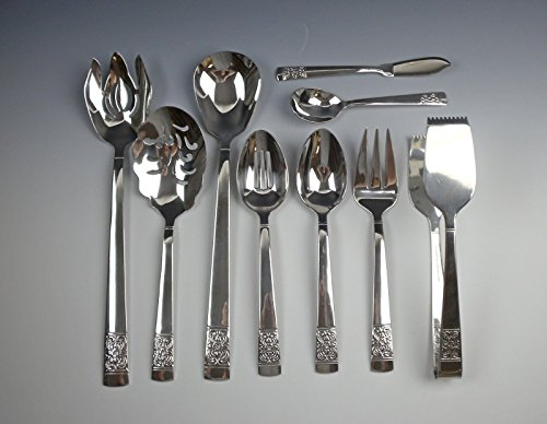 Lot of 9 Reed & Barton HARVEST BOUQUET Serving Pieces Stainless ()