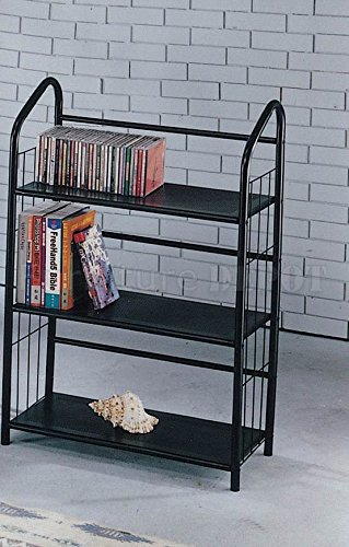 Genial Black Metal Outdoor Patio Plant Stand 5 Tier Shelf Unit (3 TIER SHELVES)