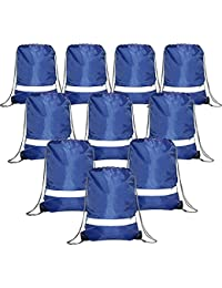 Drawstring Backpack Bags Reflective Bulk Pack, Promotional Sport Gym Sack Cinch Bags