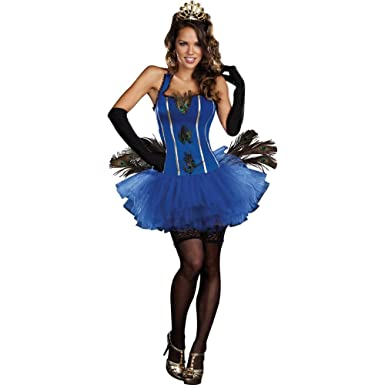 89baa0b0d Amazon.com: Royal Peacock Women's Sexy Bird Costume Blue: Clothing