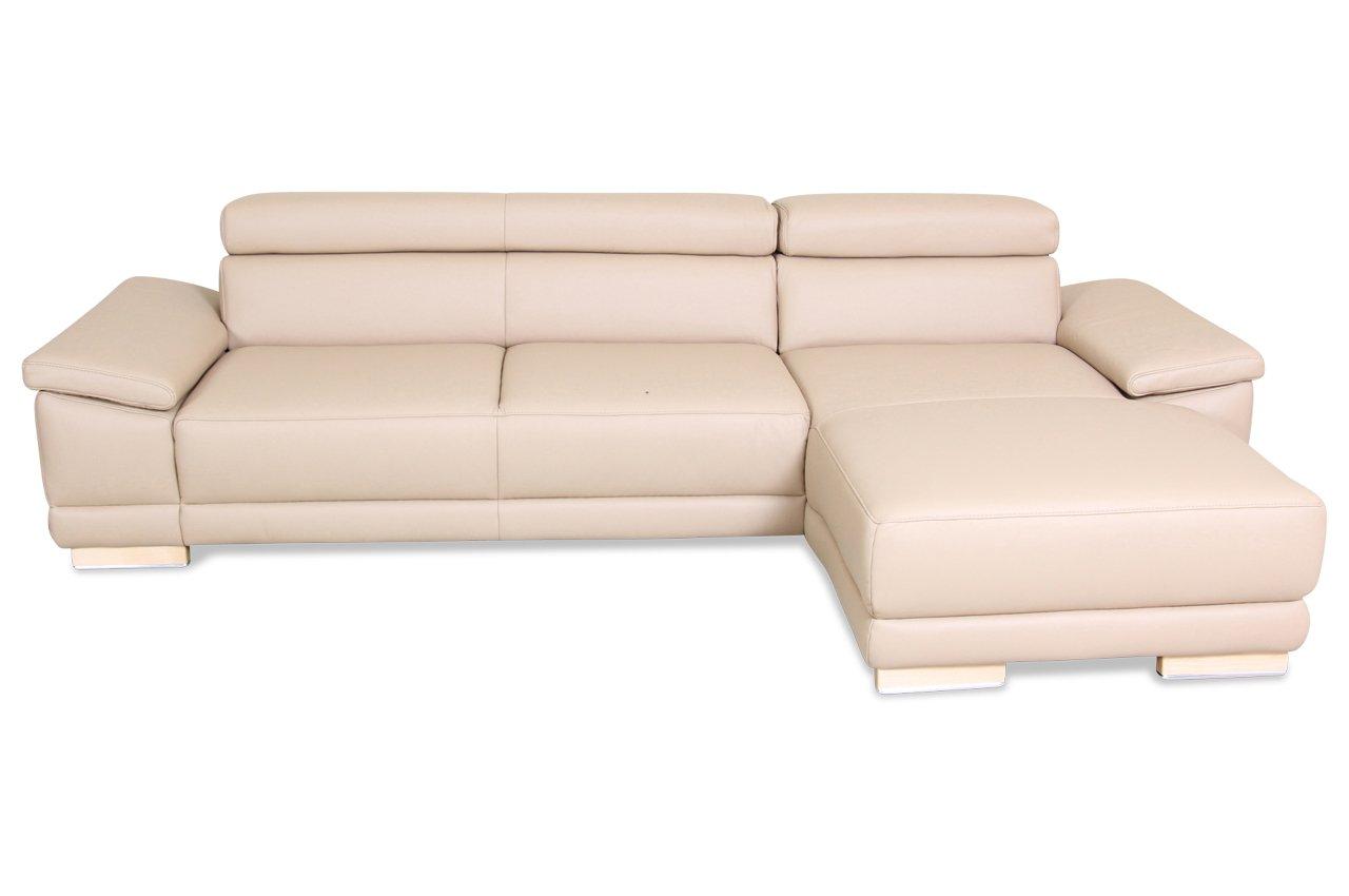 Sofa Polsteria Polsterecke Atrium - Echt-Leder Creme jetzt bestellen