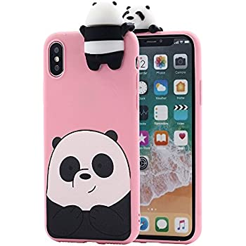 Amazon.com: iPhone X Case, Umiko(TM) 3D Cartoon Animals So