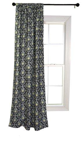 Trend Lab Waverly Rise and Shine Window Drape, Black/White