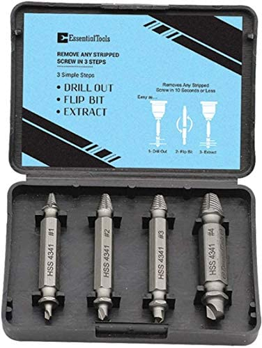 urjipstore Cassette Screws Support Rod Kit Cassette Repairer Bolt Stud Remover Tool Damaged Screw Extractor Drill Bit Set