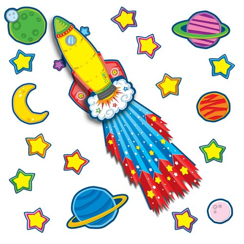 Carson-Dellosa CD-110142 Rocket Pop-Its Bulletin Board Set, 40 Pieces