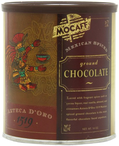 MOCAFE Azteca D'oro 1519 Mexican Spiced Ground Chocolate, 14-Ounce Tins (Pack of 4) (Chocolate Hot Ground Chocolate)