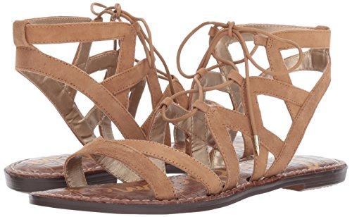 Sam Edelman Women's Gemma Flat Sandal, Golden Caramel Suede, 9 Wide US by Sam Edelman (Image #6)