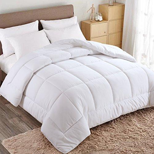 WARM HARBOR Queen All Season White Down Alternative Quilted Comforter and Duvet Insert - Luxury Hotel Collection Premium Lightweight Hypoallergenic