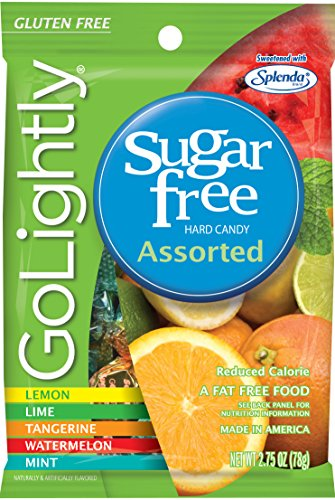 GoLightly Sugar Free Hard Candy, Assorted Flavors, 2.75 Ounce Bag