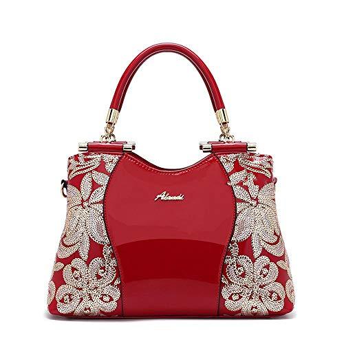 Sacs Mesdames Designer Sacs à red Femmes à Main Brevets de Les d'épaule Sac WWAVE PU Sacs pour Main Cuir d17xdO