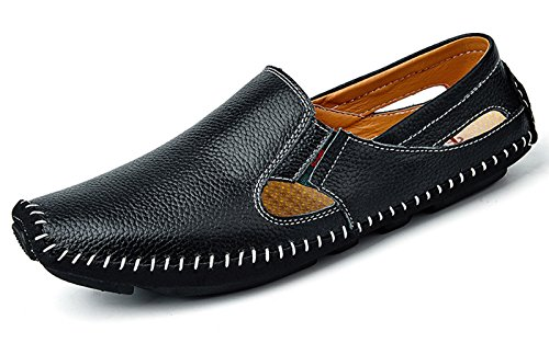 Men's Casual Driving Shoes Leather Slip On Loafers Shoes
