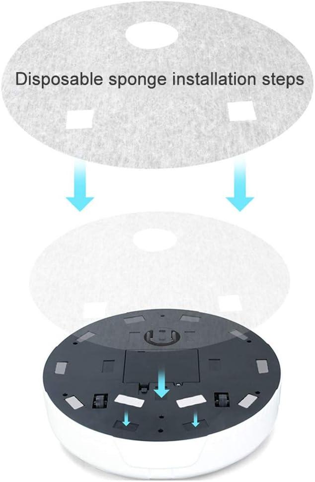XRQ Aspirateur Robot avec Le Mode Turbo d\'aspiration jusqu\'à 1600Pa, Nettoyage Silencieux pour Animaux Cheveux, sols durs et Tapis, jusqu\'à 110 Min d\'exécution,Noir White