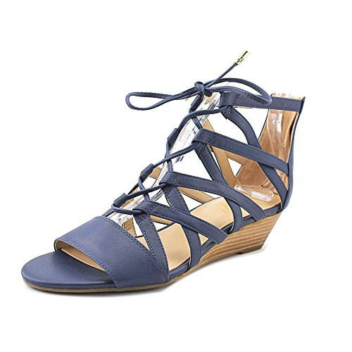 Franco Sarto Women's L-Brixie Wedge Sandal, Black, 7 M US Blue Teal Sy
