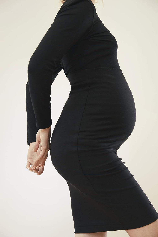 Schwarz Boob Damen Taillenhohe Umstandsrock