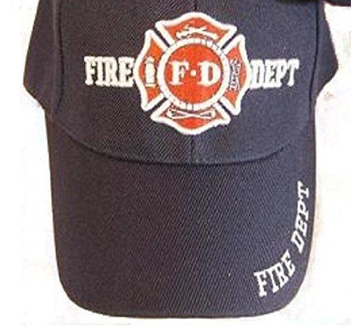 (Navy Blue Fd Fire Department Hat Dept Firemen Fdny Embroidered Baseball Ball Cap)