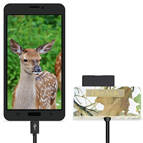 Bestok MicroSD Memory Card Reader Trail Camera Viewer for Android Smartphone Tablets Micro-USB OTG Smart Phone to View Deer Hunting Game Cam Photo & Video No App Needed Connection with Storage by Bestok