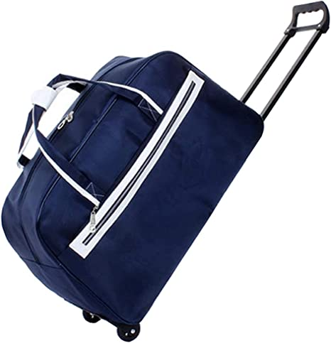BMHFF Luggage Rolling Duffel Bag Lightweight Waterproof Softshell Travel Business Tote Bag Carry-on Suitcase with 2 Spinner Wheels for Men and Women