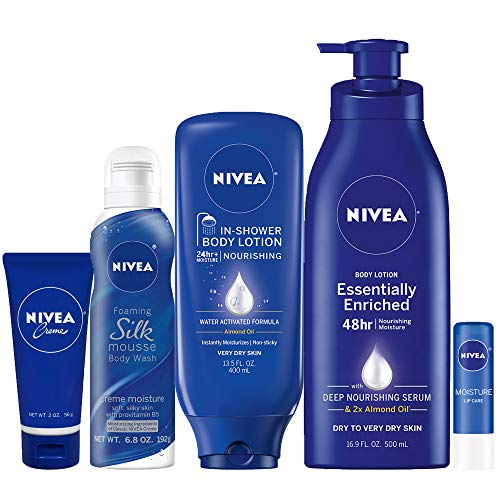 518dCfl%2BMaL - NIVEA Pamper Time Gift Set - 5 Piece Luxury Collection of Moisturizing Products and Travel Bag Included