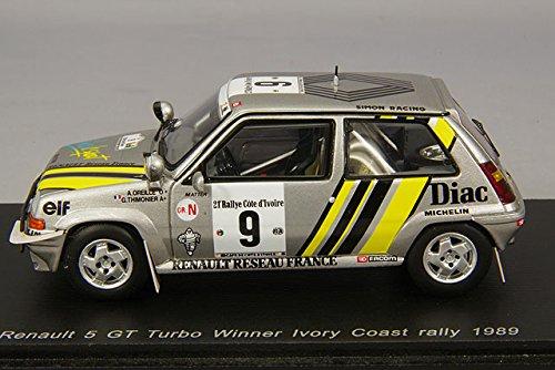 Spark - S3859 - Renault R5 GT Turbo - Rally de Cote de Marfil 1989 - Escala 1/43 - Plata: Amazon.es: Juguetes y juegos